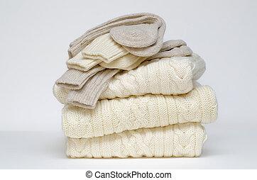 aran, tröjor, rynka, sockor
