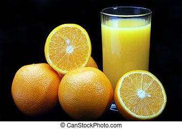 arance, e, succo
