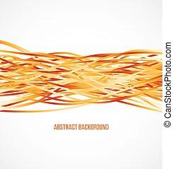 arancia, absract, linee orizzontali, fondo
