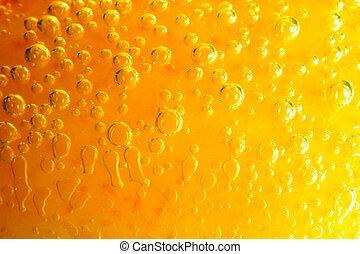 arancia, acqua, bolle