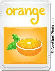 arancia, adesivo