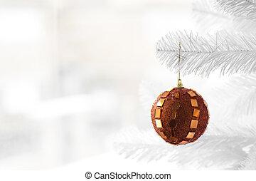 arancia, albero, fronzolo, Natale