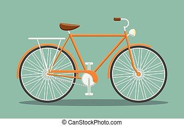 arancia, appartamento, bicicletta