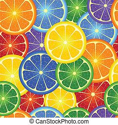 arancia, arcobaleno, seamless, fondo
