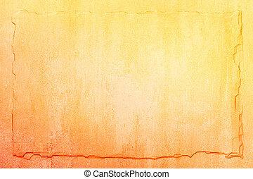 arancia, ardesia, sfondo giallo