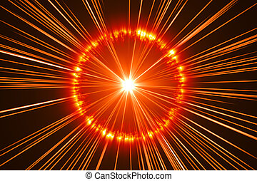 arancia, astratto, fondo, esplosione