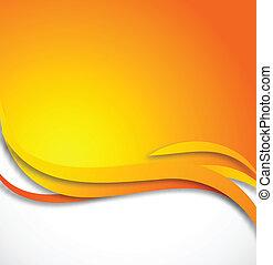 arancia, astratto, fondo