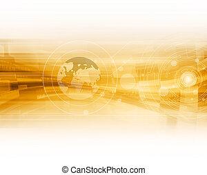 arancia, astratto, futuristico, fondo