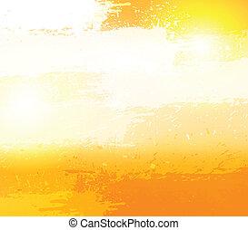 arancia, astratto, grunge, fondo