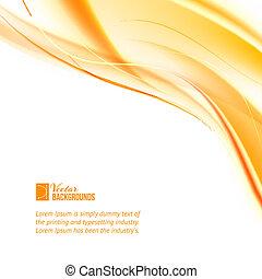 arancia, astratto, lines., affari