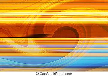 arancia, astratto, sfondo rosso