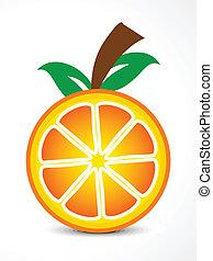 arancia, astratto, vettore, frutta