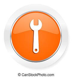 arancia, attrezzo, icona computer