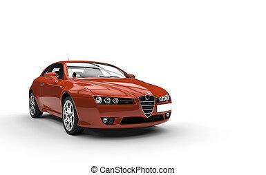 arancia, automobile, strano