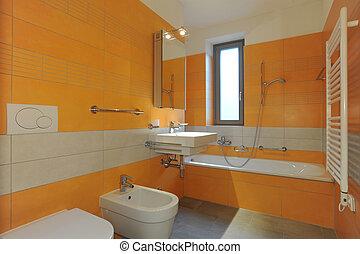 arancia, bagno