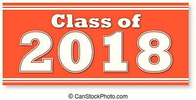 arancia, bandiera, classe, 2018