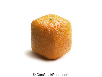 arancia, bianco, quadrato