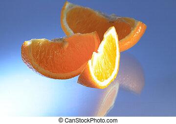 arancia, blu