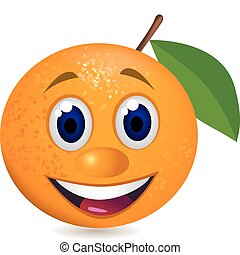 arancia, cartone animato