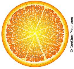 arancia, chiudere, ha fatto pezzi