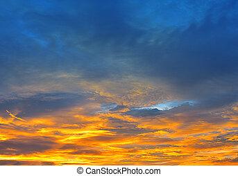arancia, cielo tramonto