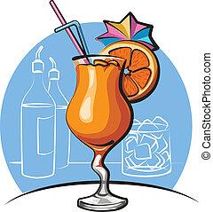 arancia, cocktail