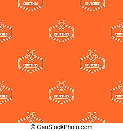 arancia, crutches, vettore, modello