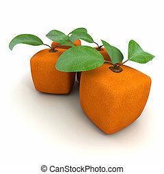 arancia, cubico, duetto