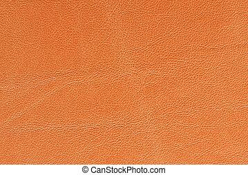 arancia, cuoio, struttura, fondo