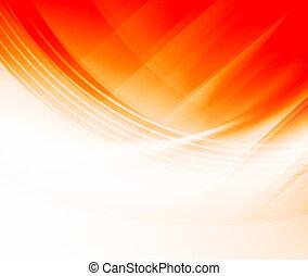 arancia, curve, astratto, fondo
