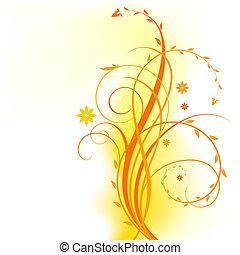 arancia, disegno floreale
