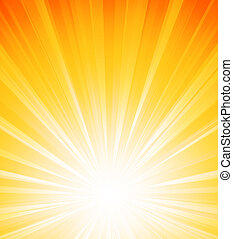 arancia, estate, scoppio sole, luce