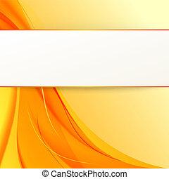arancia, fondo., coperchio, fumo, giallo