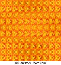 arancia, fondo., strisce, giallo, cuori