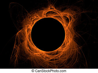 arancia, fractal, eclissi