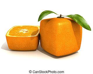 arancia, freschezza, cubico