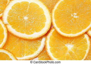 arancia, frutta, fondo