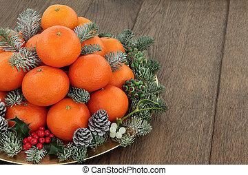 arancia, frutta, mandarino, satsuma