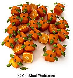 arancia, giardino