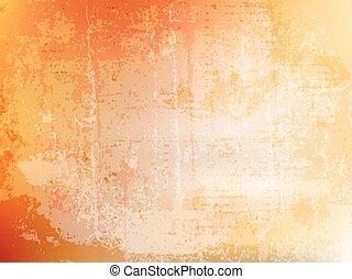 arancia, grunge, fondo