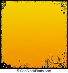 arancia, halloween, fondo