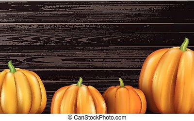 arancia, halloween, pumpkins., fondo, 3d