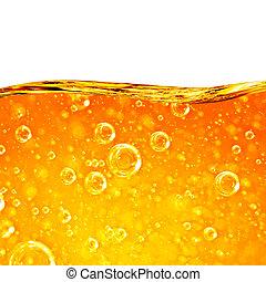 arancia, liquido, flussi, onda