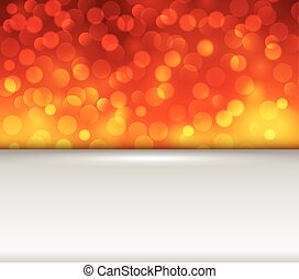 arancia, luci, fondo