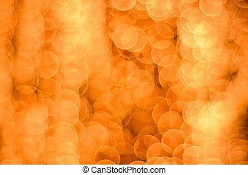 arancia, luci, sfocato