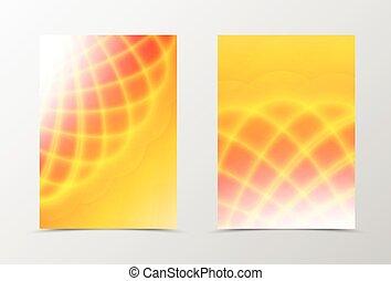 arancia, luminoso, fondo