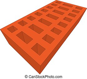 arancia, mattone, bianco