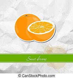 arancia, maturo