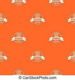 arancia, modello, costruzione, vettore, decotrative