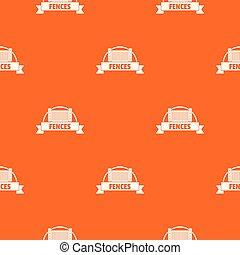 arancia, modello, mattone, vettore, recinto